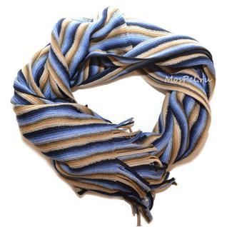 Шарф 932 бежево-синий Venera