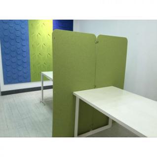 Офисные перегородки EasyAux ZEN шумопоглощающая на пол 1600х700, зеленый