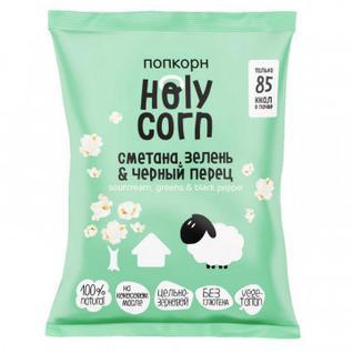 Попкорн Holy Corn сметана, зелень и черный перец, 20 г