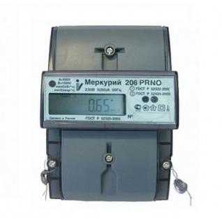 Электросчетчик Меркурий 206 PRNO 5(60)А/230В многотарифный, ЖКИ