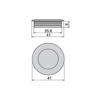 Ручка-кнопка EMUCA OREGON 41x8 мм цамак никелированный