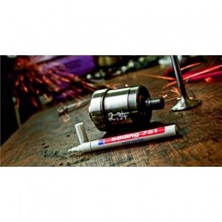 Маркер пеинт (лак) EDDING E-751/1 чёрный, 1-2мм, мет. корп.,