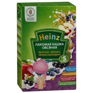 """Молочная каша Heinz овсяная """"Яблочко, черника, смородина"""" (с 5 мес.), 200 гр."""