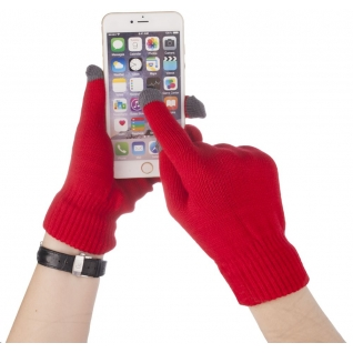 Cariba Перчатки Айфон для сенсорных экранов, цвет красный