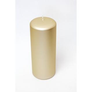 Свеча декоративная золотистая platinum
