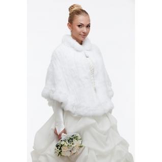 Вязаный Мех. Шаль свадебная меховая ОЧАРОВАНИЕ белая