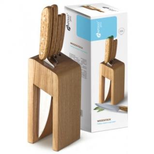 Набор ножей 4 предмета с подстав APOLLO Genio Woodstock WDK-004