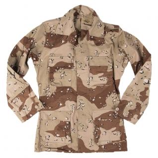 Куртка BDU полевая армии США, камуфляж 6-цветный пустынный б/у