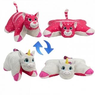 1Toy Подушка Белый Единорог-Розовая Кошечка