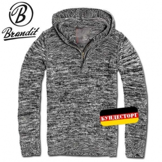 Пуловер лесника Brandit, цвет черно-серый