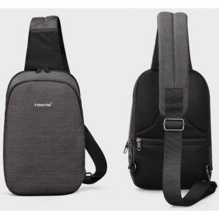 "Однолямочный рюкзак Tigernu T-S8061, серый, 11"""