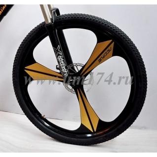 Литые диски для велосипеда 26 дюймов. 3-х конечная звезда