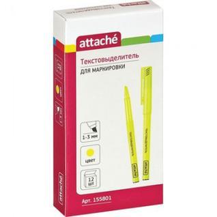 Маркер выделитель текста ATTACHE желтый 1-3мм.