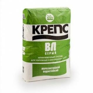Шпаклевка Крепс ВЛ серая /20,0 кг/ (56 шт на поддоне)