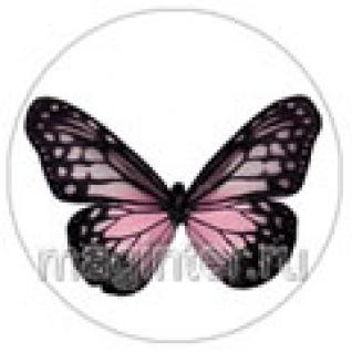"Пластина шунгитовая для телефона круглая ""Бабочка"" диаметр 20 мм"
