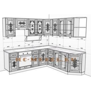 Кухня БЕЛАРУСЬ-9.6 модульная угловая, правая, левая