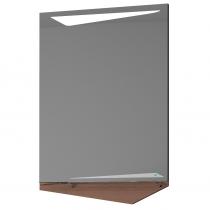 Зеркало Velvex CUB 60 с сенсорной подсветкой, темный лен