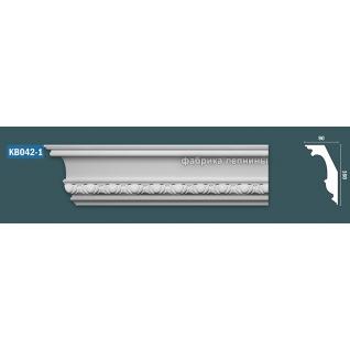 КВ042 Карниз гипсовый с орнаментом - 146х90мм