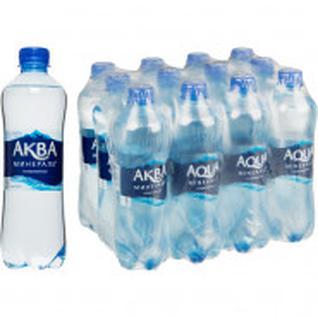 Вода питьевая Аква Минерале ПЭТ 0,5л газ.12 шт/уп