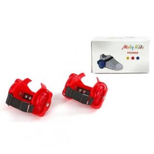 Двухколесные ролики (свет), красные Moby Kids