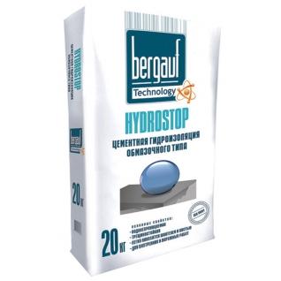 БЕРГАУФ Гидростоп цементная гидроизоляция (20кг) / BERGAUF Hydrostop гидроизоляционная цеметная смесь (20кг) Бергауф