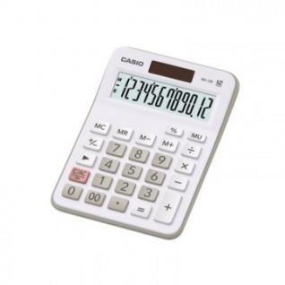 Калькулятор настольный КОМПАКТНЫЙ CASIO MX-12B-WE 12 разр, цвет белый