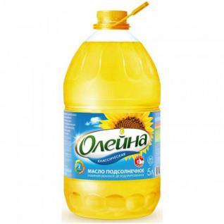 Масло Олейна подсолнечное рафинированное, 5 л