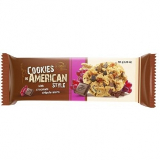 Печенье American Cookies шоколад+орех 135г