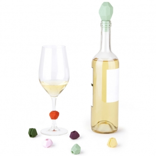 Пробка для бутылки и маркеры для бокалов Gem