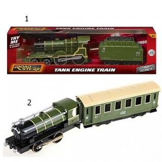 Игрушечный локомотив с вагоном Roadsterz (звук), зеленый, 1:55 HTI