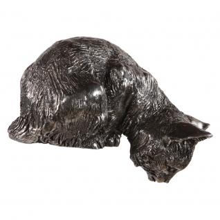 Статуэтка «Любопытный Том» (декоративная скульптура) (Античное серебро)