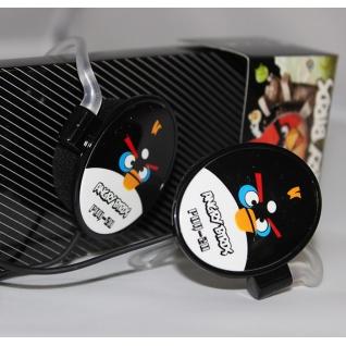 Наушники Angry Birds овальные черные
