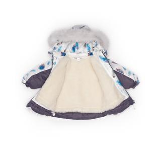 Комплект MalekBaby (Куртка + Полукомбинезон), С опушкой, №222/1 (Перья+серый) 409ШМ/2