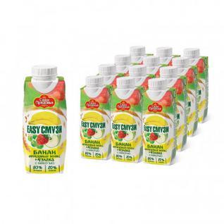 Напиток Смузи Сады Придонья банан,ябл.,виног.,клубн. со злак. 0,25л 12шт/уп