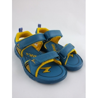 6864-18 голубой тули открытые для мальчика (33-37)10 (33) Зебра