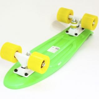 Скейт борд 4-колёсный Hubster Cruiser 27 зелёный с жёлтыми колесами