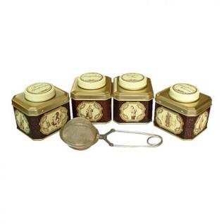 Чай Hilltop Шкатулка Морская 4 банки по 50гр+ситечко