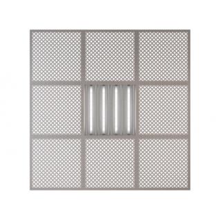 Потолочная плита Presko Лотос 59.5х59.5 металлик