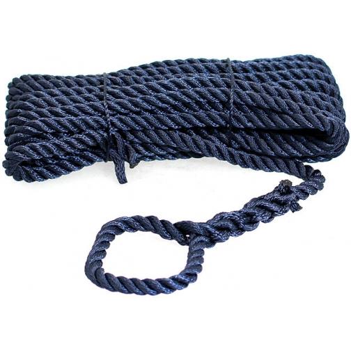 Трос швартовый Santong Rope 3-прядный 10мм черно-синий, бухта 10м (STMLN01) 36981603