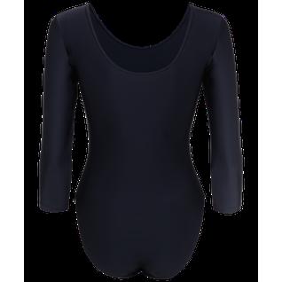 Купальник гимнастический Amely Aa-141, рукав 3/4, полиамид, черный (28-34) размер 34