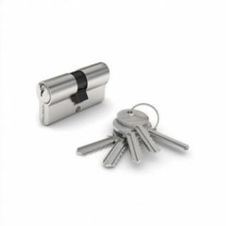Цилиндр к замку ключ+ключ 60 мм хром