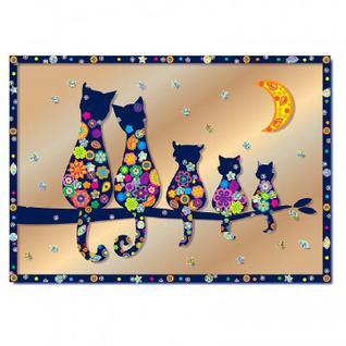 Набор для творчества изготовление картины Семья котов(антистресс),АС 43-233