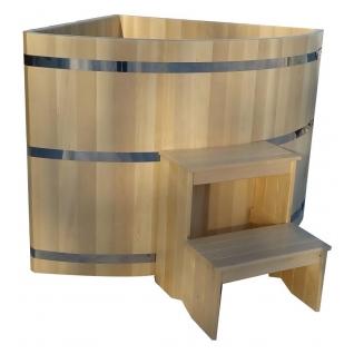 Купель угловая 3-4 местная, 1,3 х 1,3 х 1,2 м