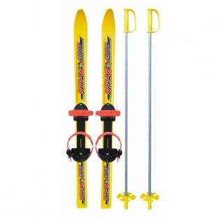 """Детские лыжи с креплениями и палками """"Вираж-спорт"""", в сетке, 100 см Цикл"""