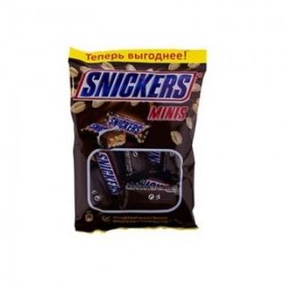 Шоколадный батончик Snickers мини 180г