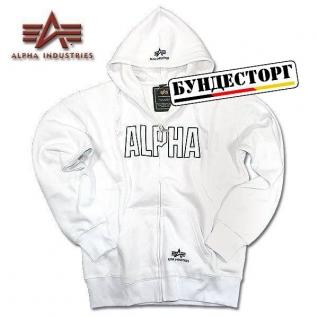 Alpha Industries Толстовка Alpha Industries Track, застежка-молния, цвет белый