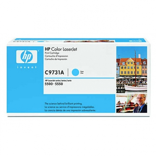 Оригинальный картридж HP C9731A для HP CLJ 5500, 5550 (голубой, 12000 стр.) 704-01 Hewlett-Packard 852614