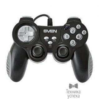 Sven SVEN X-PAD, чёрный и серебро SV-063007 Геймпад, вибрация, USB, 12 кнопок