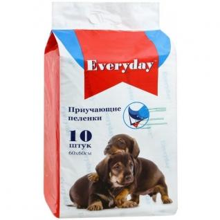 Everyday EVERYDAY впитывающие пеленки для животных ГЕЛЕВЫЕ 60 х 60 см, 10 шт