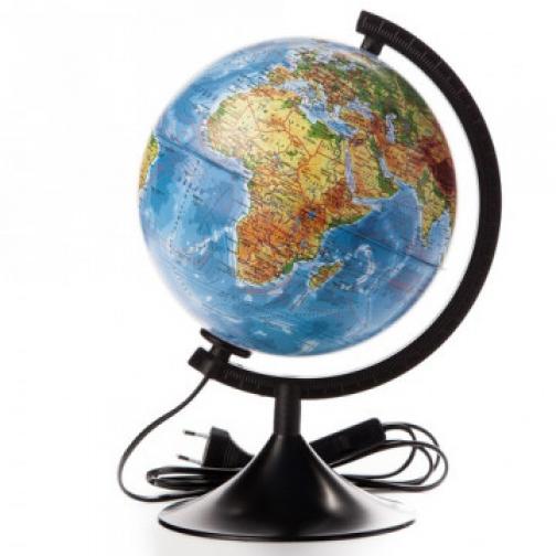 Глобус физико-политический с подсветкой,210мм 37874824